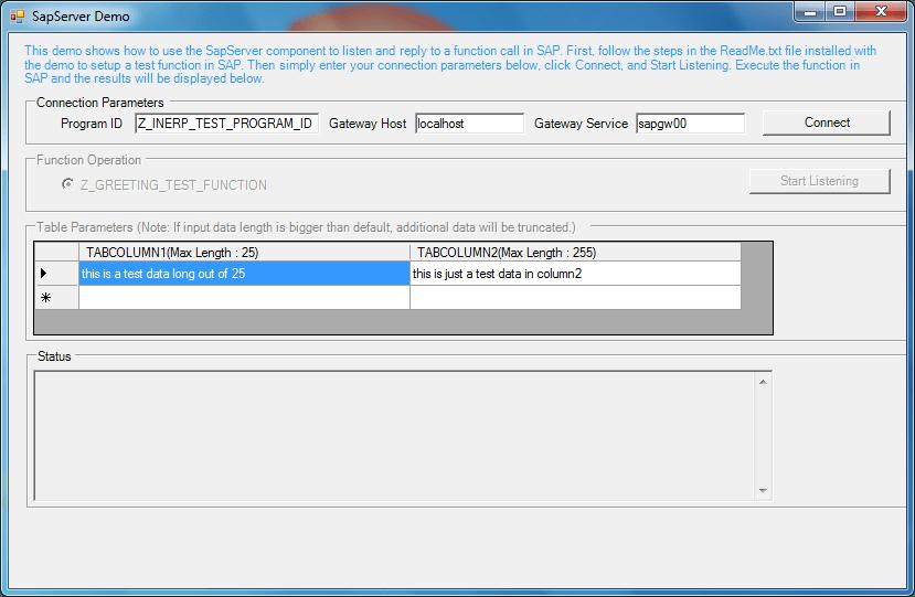 Screenshot of ERP (SAP) Integrator .NET Edition