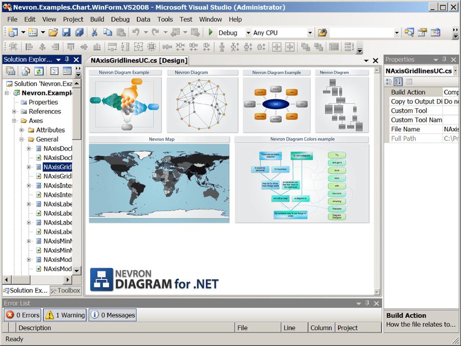 Screenshot of Nevron Diagram for .NET - Enterprise