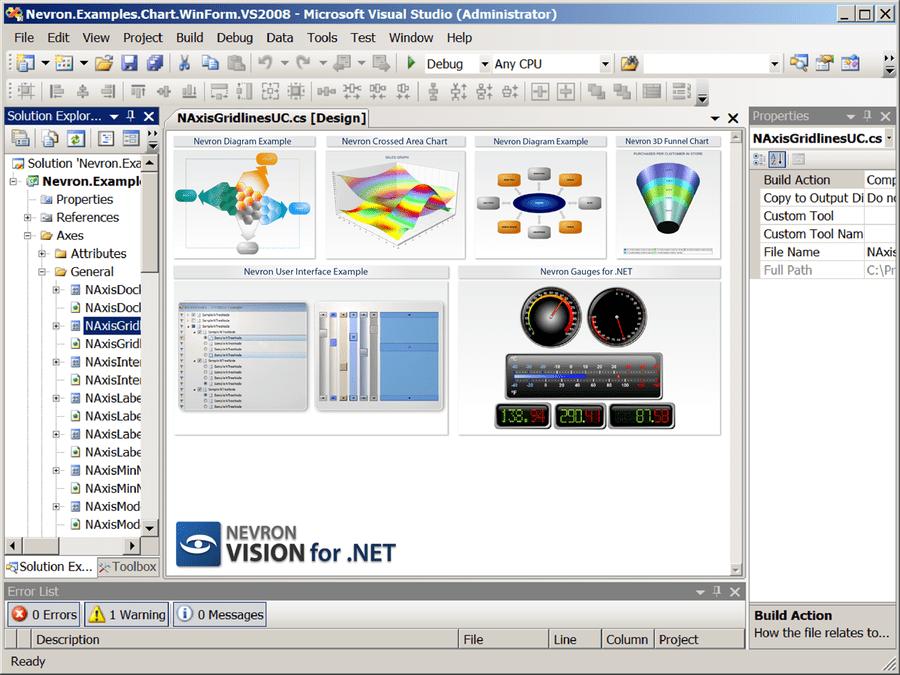 Screenshot of Nevron .NET Vision Professional