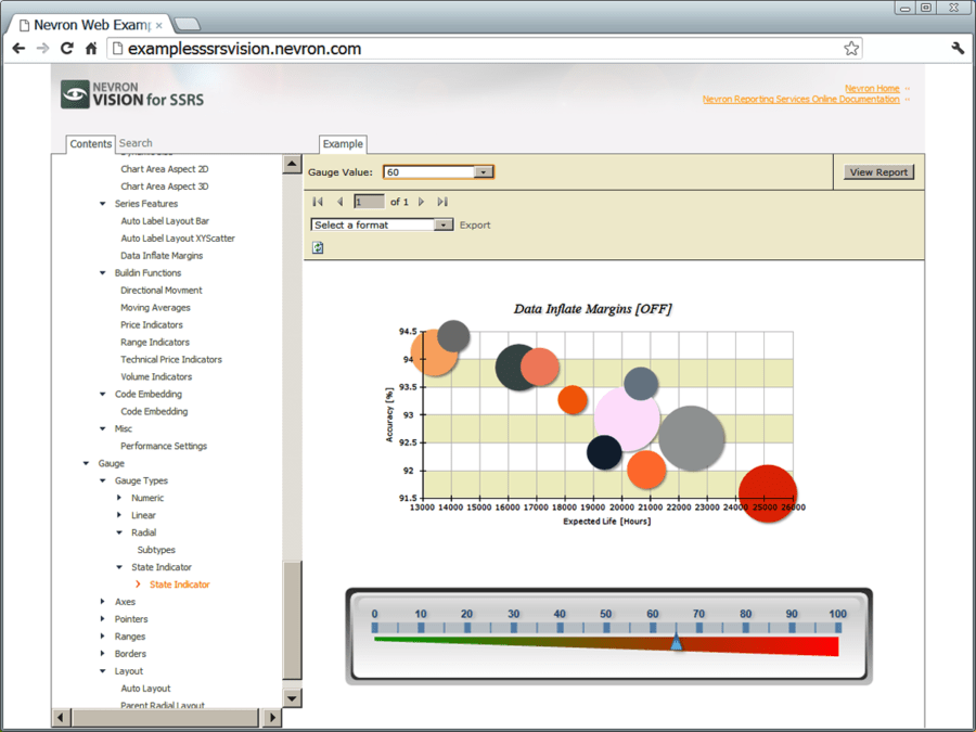 Screenshot of Nevron Vision for SSRS