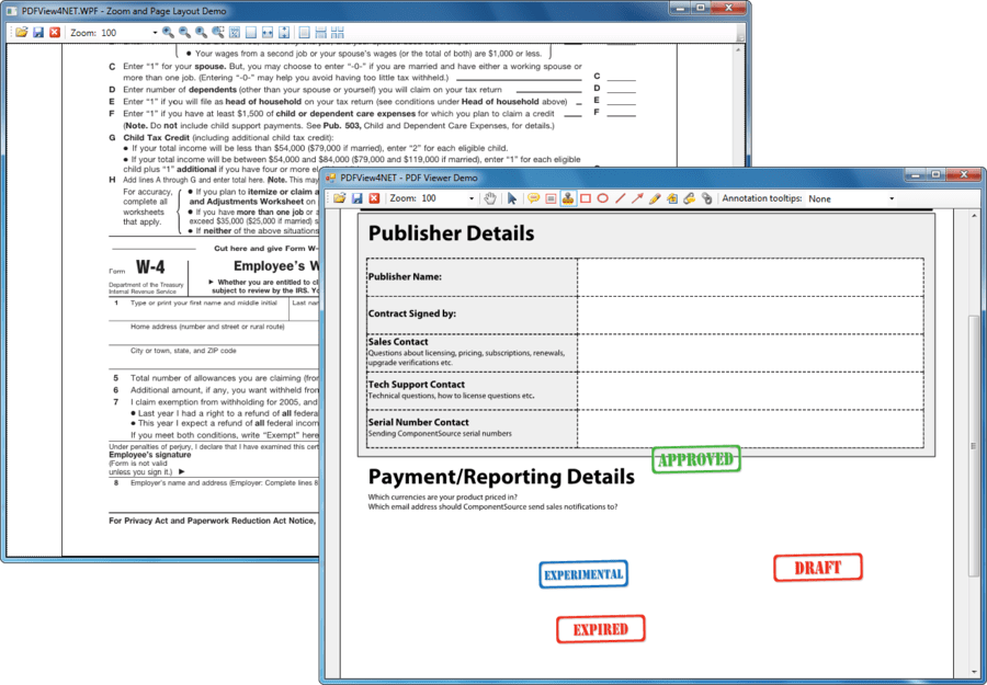 Screenshot of PDFView4NET Full .NET Edition