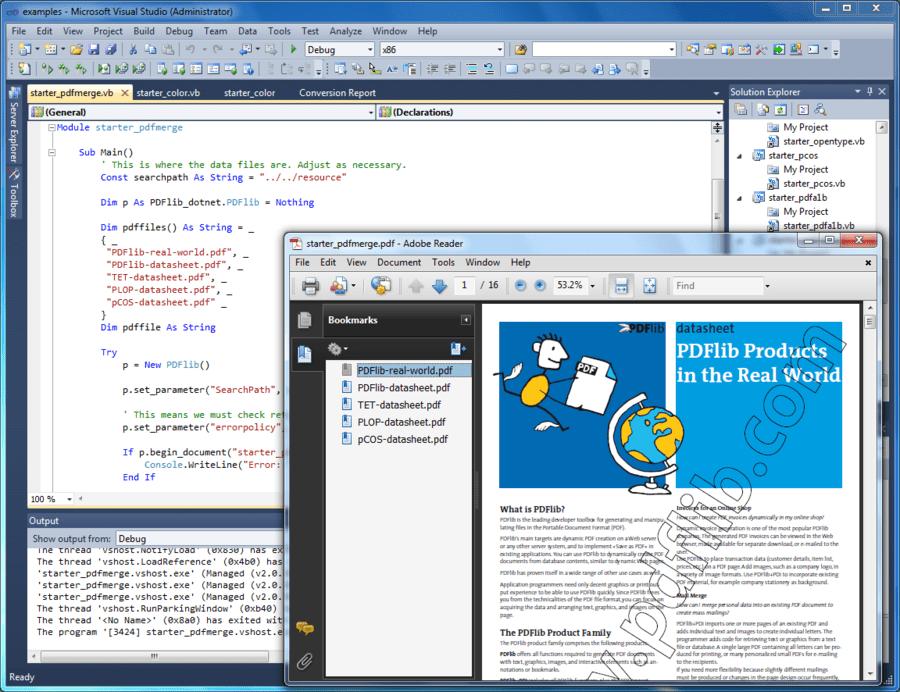 Screenshot of PDFlib