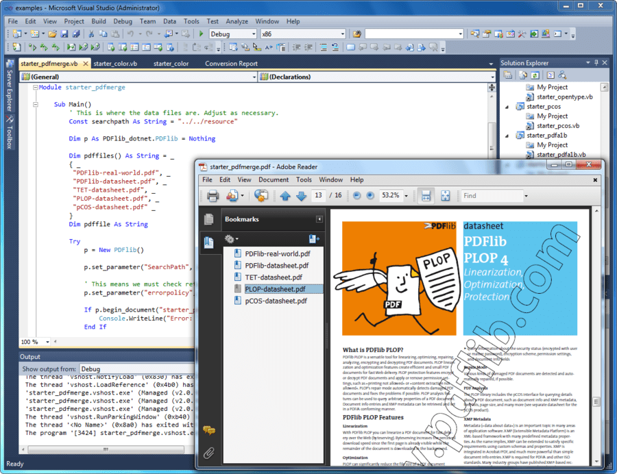 Screenshot of PDFlib+PDI