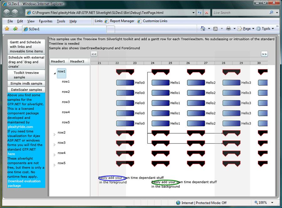 Screenshot of GTP.NET for Silverlight + WPF (GTP.NET.SL)