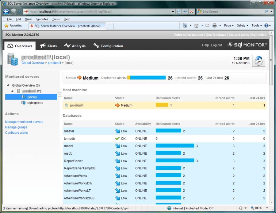 Screenshot of SQL Monitor