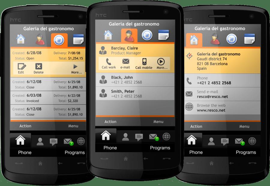 Screenshot of Resco MobileBusiness ESP