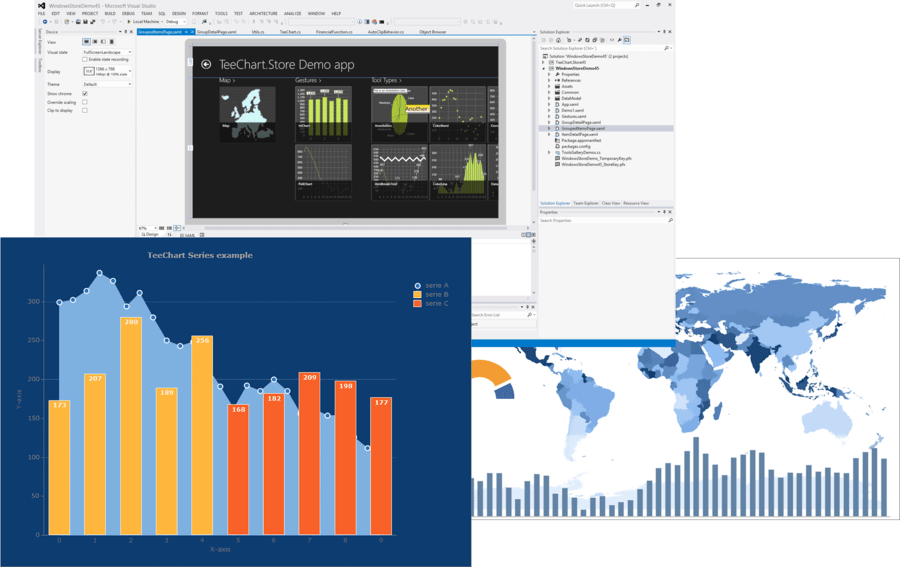 Screenshot of TeeChart for .NET with Sources