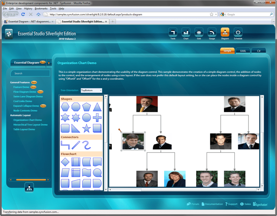Screenshot of Syncfusion Essential Diagram