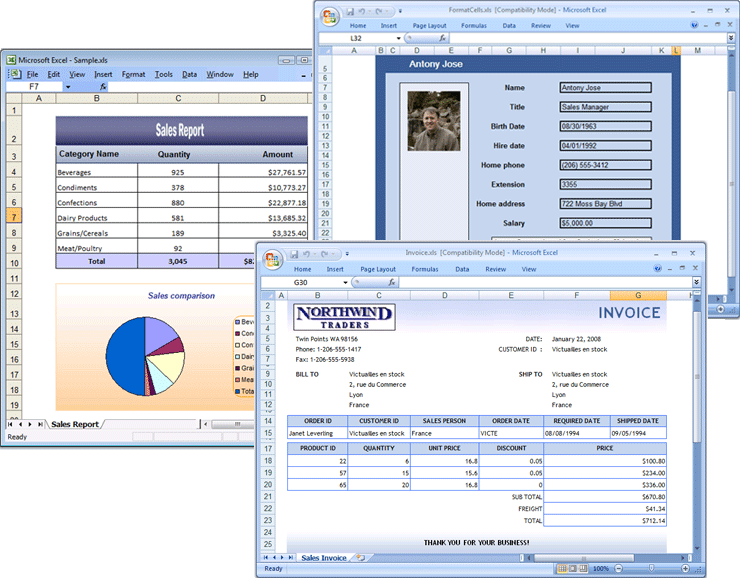 Screenshot of Syncfusion Essential XlsIO