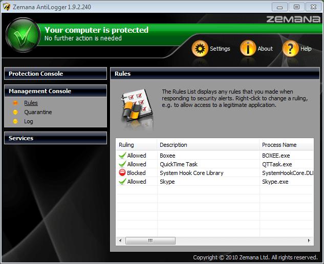 Screenshot of AntiLogger