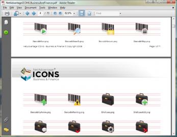 Publicité pour NetAdvantage ICONS Business & Finance Pack