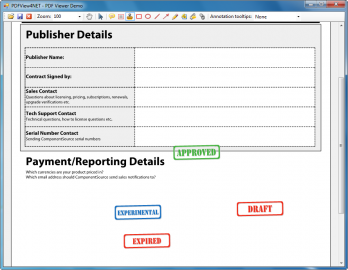 Anzeige für PDFView4NET Windows Forms Edition