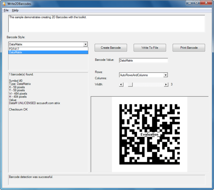 About Barcode Xpress Professional .NET: Barcode Xpress supports 1D codes like Code 39 and 128, UPC, EAN, and 4-state postal codes, plus 2D barcodes including DataMatrix, QR Code, PDF417, Aztec, and more.