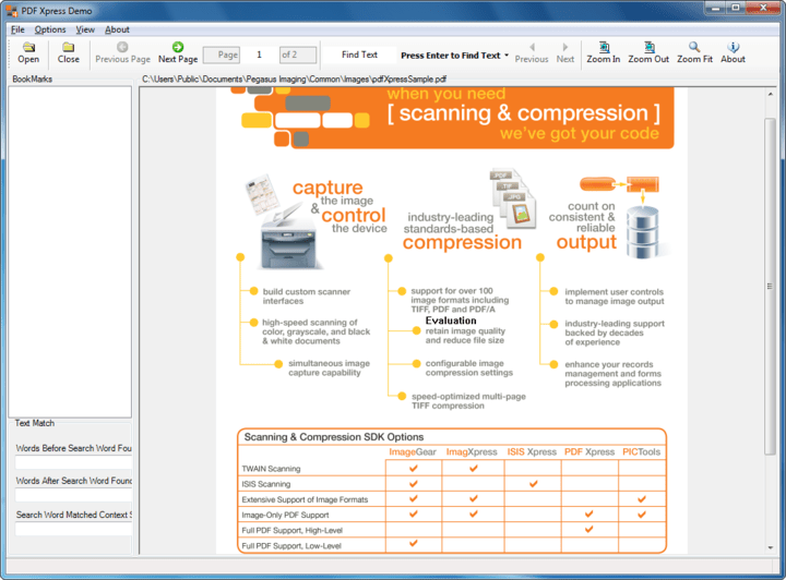 About PDFXpress ActiveX Reader Edition: Build applications to view PDF files.