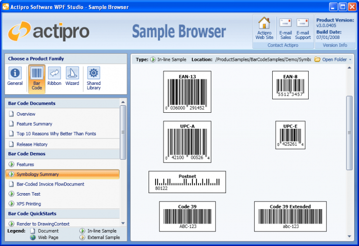 About Actipro Bar Code for WPF: An easy-to-use vector-based barcode generation suite written in WPF.