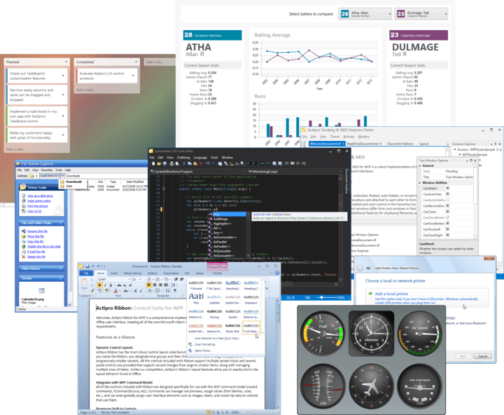 About Actipro WPF Studio: A suite of professional user interface controls and components for Windows Presentation Foundation (WPF).