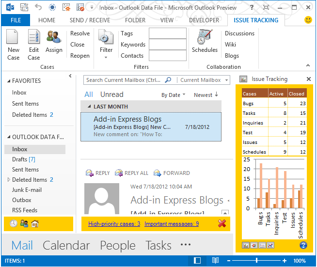 About Add-in Express for Microsoft Office and Delphi VCL: Develop Office COM add-ins, smart tags, real-time data servers and user-defined functions in Delphi with minimal coding.