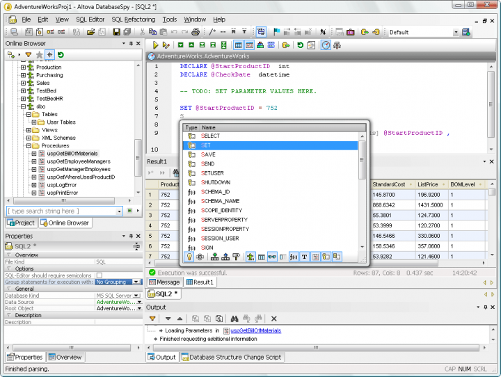 About Altova DataBaseSpy Enterprise Edition - Installed Users: A multi-database data management, query and design tool.