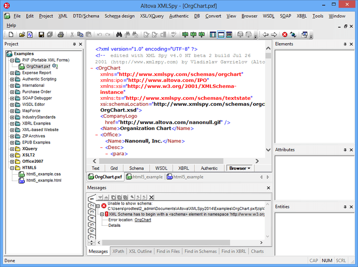 Altova MissionKit Enterprise Installed Users 관련 정보: XML, 데이터 통합, 웹 서비스를 위한 도구.