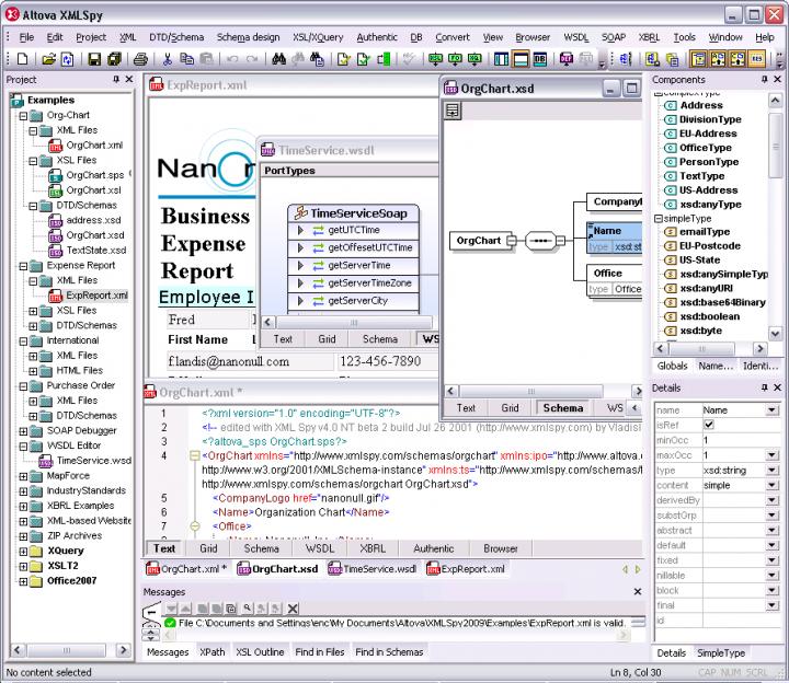 Altova XMLSpy Enterprise Edition - Upgrade from XMLSpy Professional 관련 정보: 고급 XML 응용프로그램을 개발.