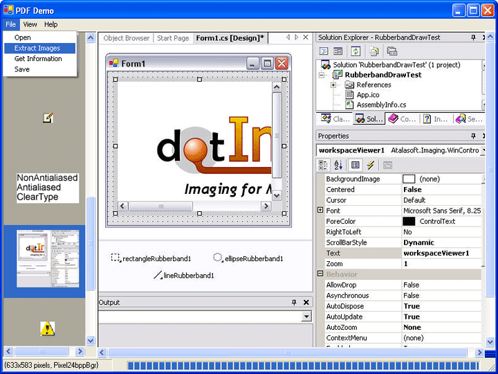 About Atalasoft DotImage PDF Reader Add-On: Integrate PDF viewing, printing, format conversion, and text extraction into DotImage.