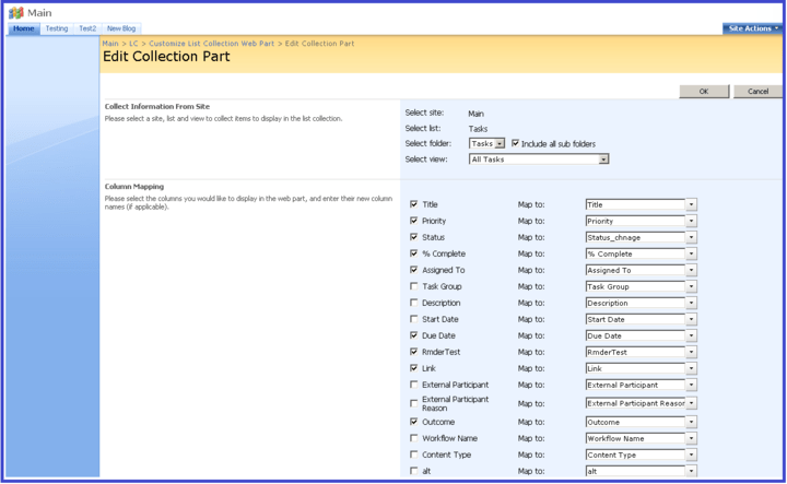 About SharePoint List Collection: Display lists and items from other SharePoint sites in a designated view from a browser.