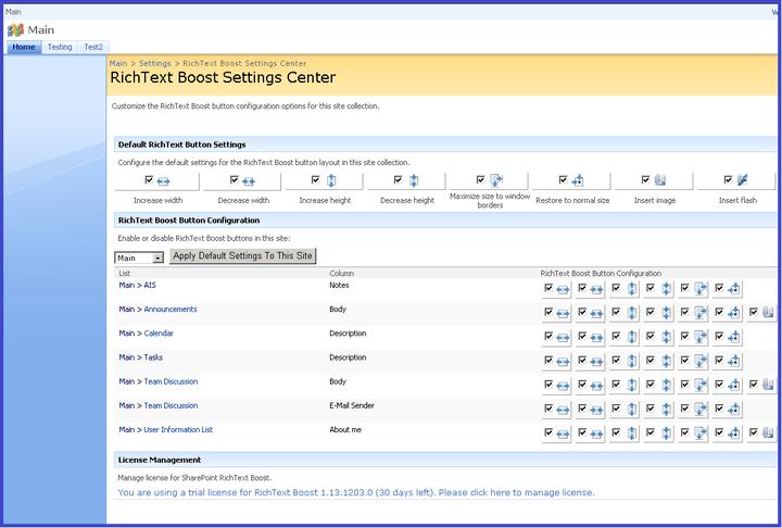 About SharePoint RichText Boost: Enhances the default SharePoint rich text editor.