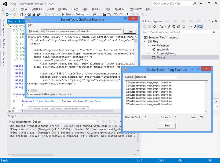About SocketTools .NET Edition: Twenty Internet communications components for Visual Studio.