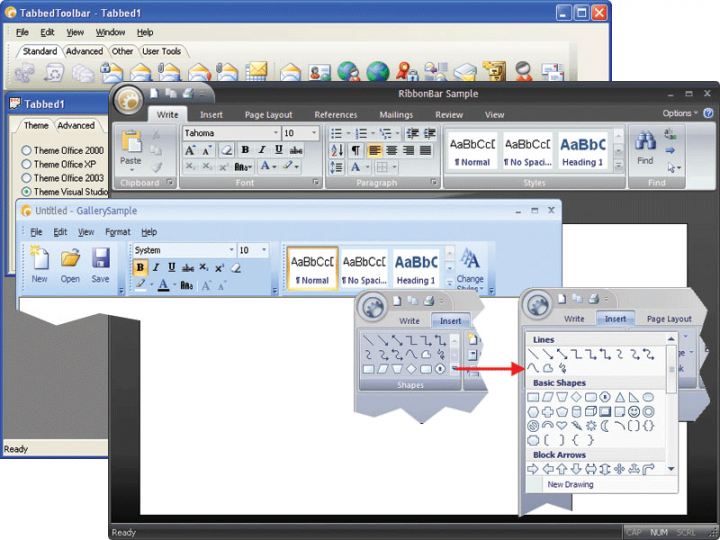 About Codejock Command Bars ActiveX: Provides Windows GUI engineers with all the components needed to create Microsoft Office XP style toolbars and menus with enhanced docking algorithms.