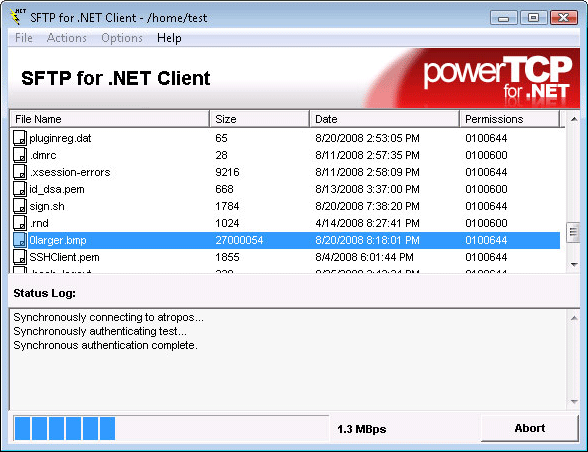 About PowerTCP SSH and SFTP for .NET: Add secure SSH session and file transfer capabilities to any .NET application.