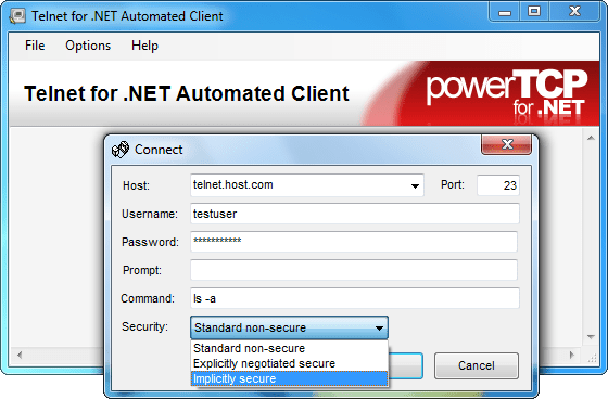 About PowerTCP Telnet for .NET: Add comprehensive Telnet and remote access communication capabilities to any .NET desktop or web application.