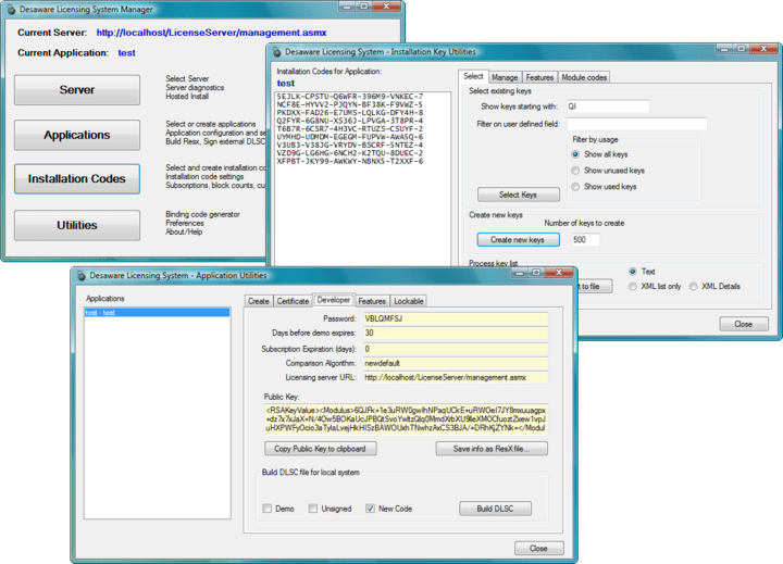 About Desaware Licensing System: Add a cryptographic licensing system to your .NET apps.