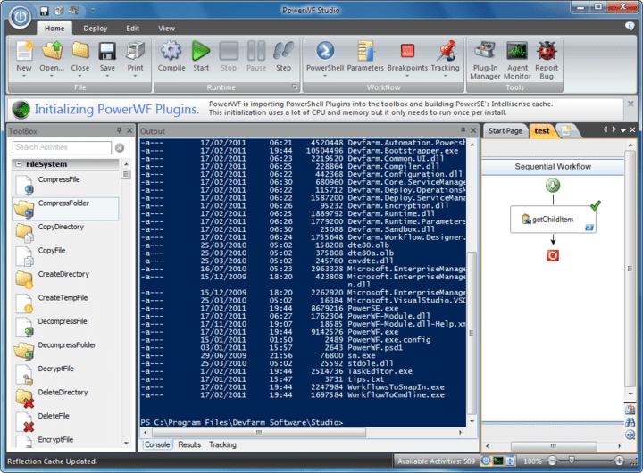 About PowerWF - Visual PowerShell: Acts like PowerShell, looks like a workflow.