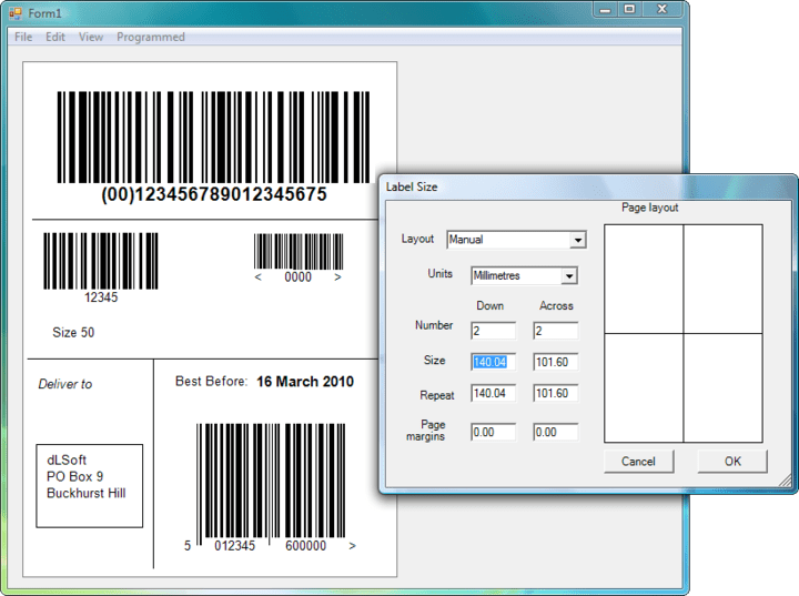 About Labels.NET: Add barcode label printing to your .NET project.