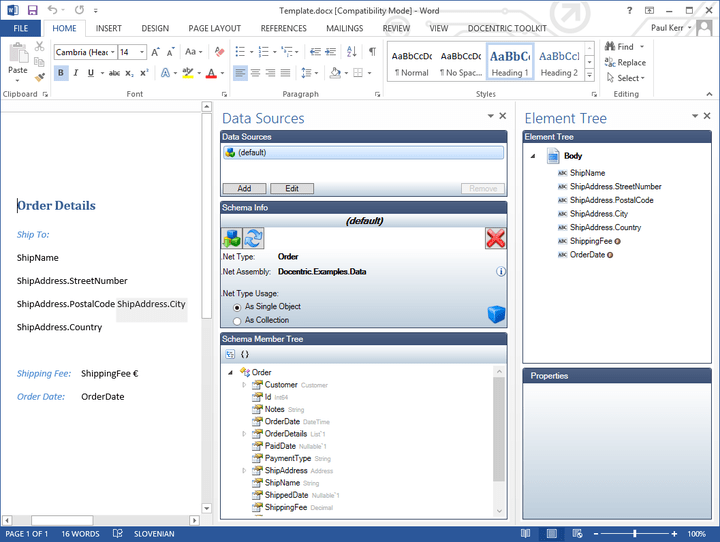 About Docentric: Easily create rich, complex Microsoft Word documents from your .NET applications.