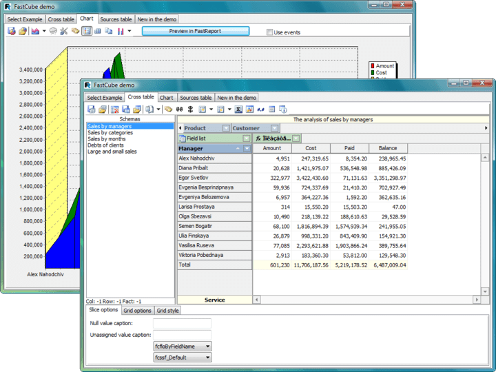 About FastCube: Effective data analysis tool for Delphi/C++Builder/Lazarus.
