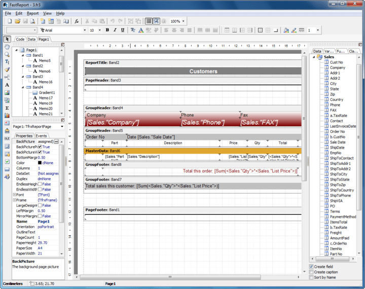 About FastReport VCL Basic Edition: Report generator for Delphi.