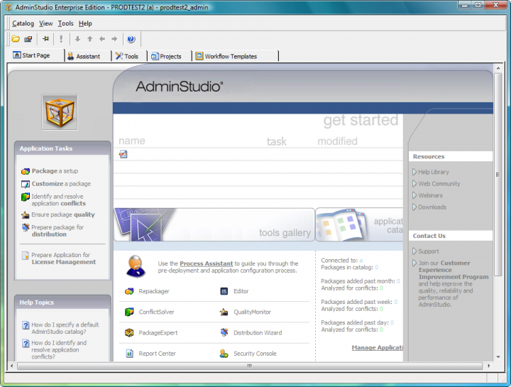 About AdminStudio Standard: Reliable software packages prepared with automation and intelligence.