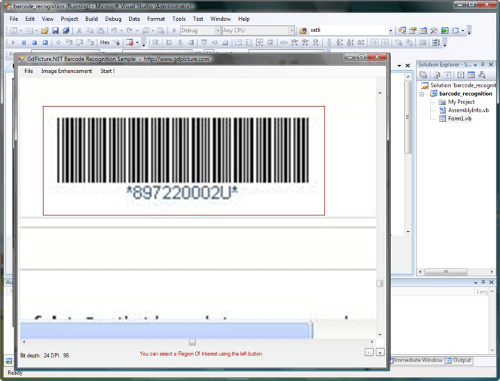 About GdPicture.NET 1D Barcode Recognition Plugin: GdPicture 1D Barcode Recognition Plugin is a low-cost, fast, accurate and royalty-free 1D Barcode Recognition Engine for developing applications using GdPicture Imaging SDK Toolkits.