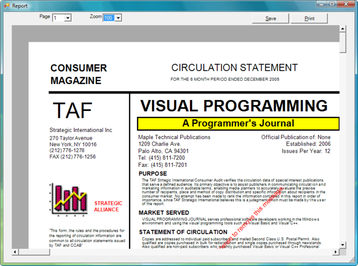 About AceView: .NET report and technical drawing generator.