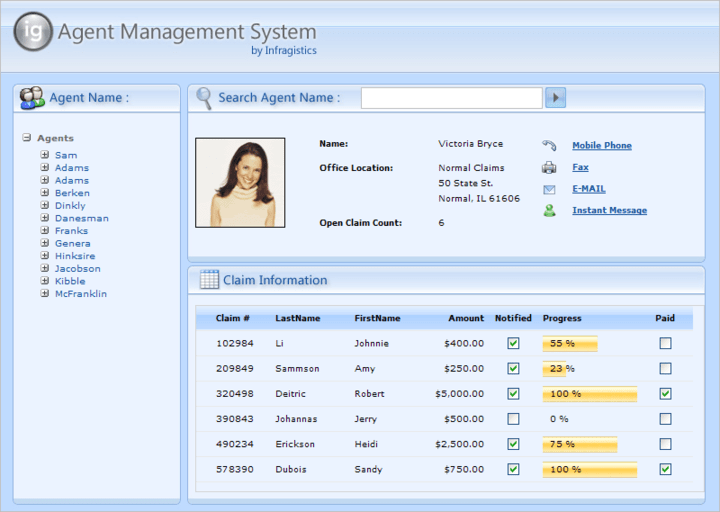 About Infragistics NetAdvantage for Web Client: Add, grid, ribbon, scheduling, toolbar, menu, listbar, tree, UI and editing functionality to ASP.NET and Silverlight applications.