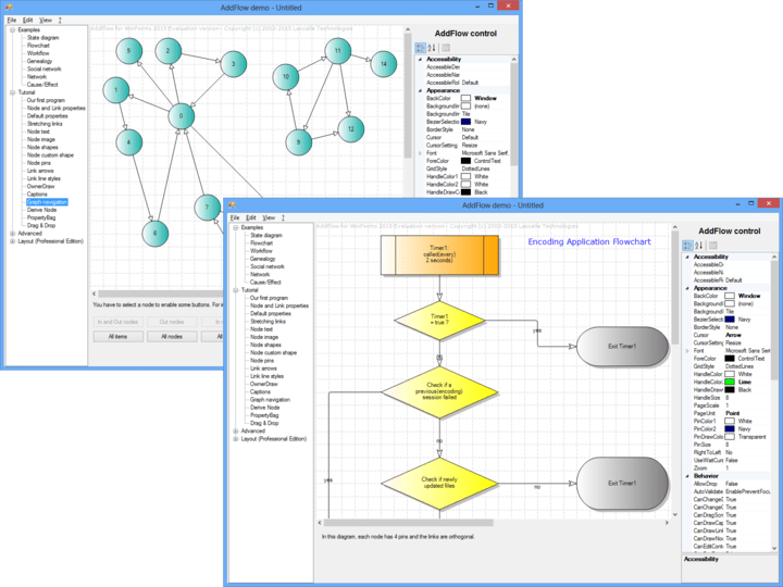 About AddFlow for WinForms Standard: Create interactive flowchart and workflow diagrams.