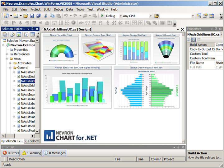 About Nevron Chart for .NET Professional: Deliver rich charting functionality to your WinForms and ASP.NET applications.