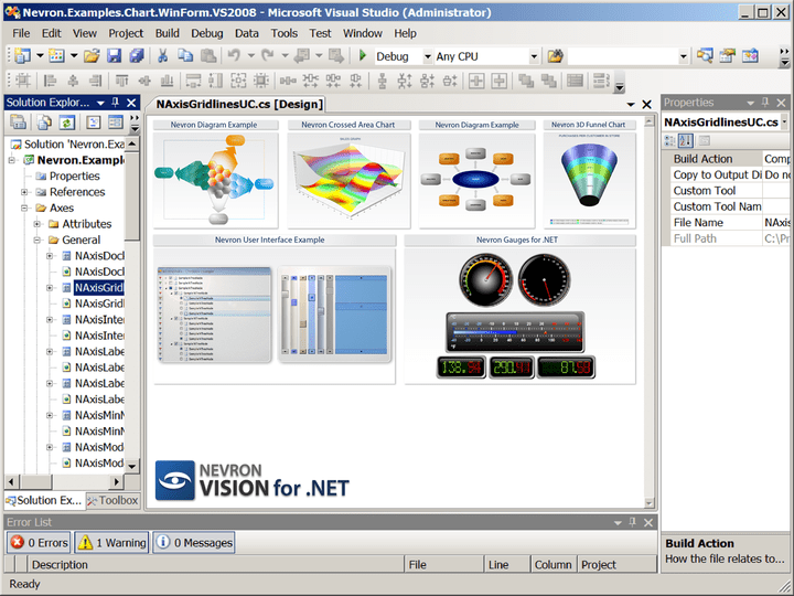 About Nevron .NET Vision Enterprise: Design your application with professional data visualization tools.