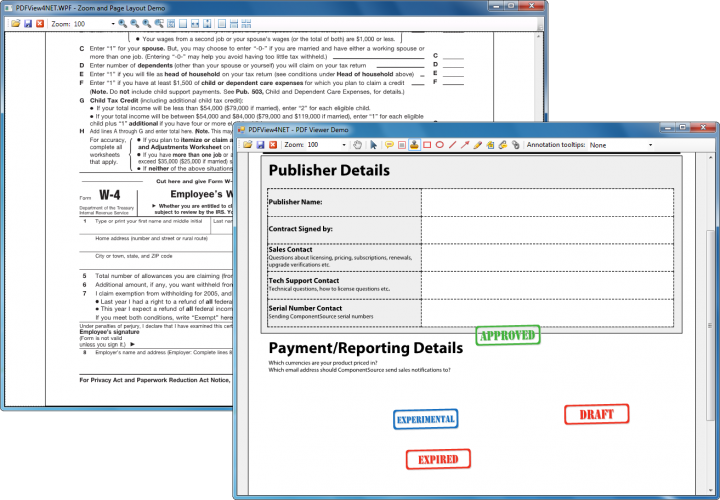 About PDFView4NET Full .NET Edition: Add a PDF viewer to your Windows Forms and WPF applications.
