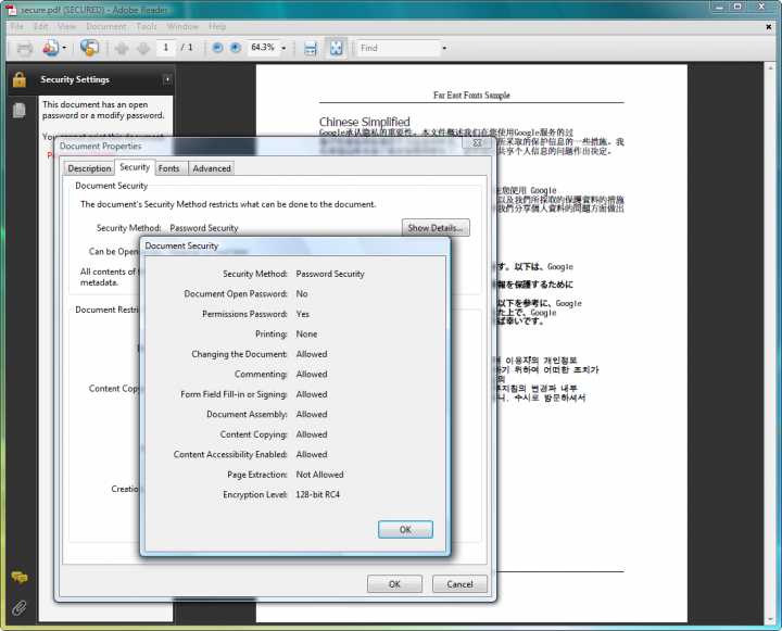 About ExpertPDF Pdf Security: Secure your PDF documents.