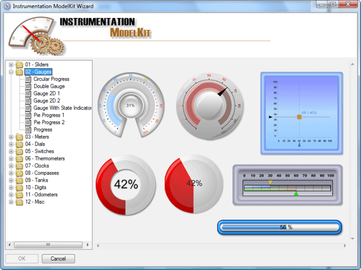 About SharpShooter Gauges.Enterprise: Add the look & feel of real-life instrumentation hardware to your .NET application.