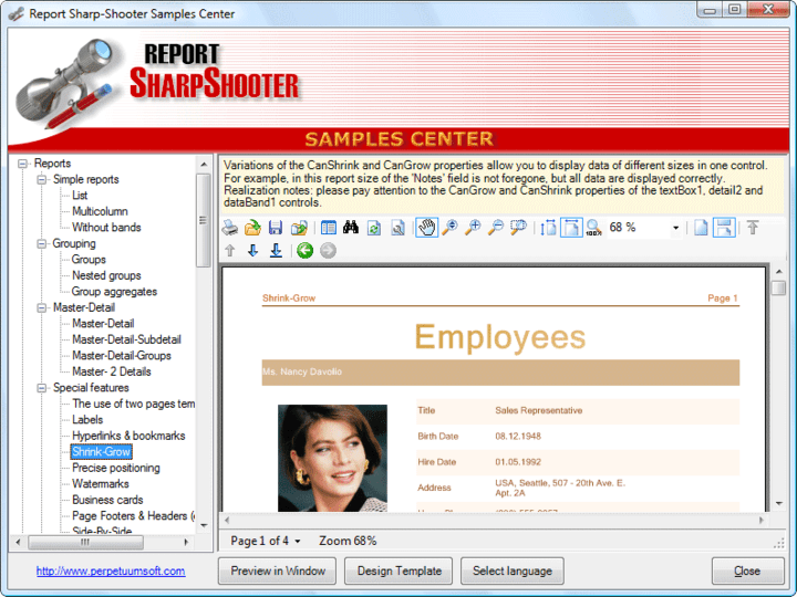 About SharpShooter Reports.Professional: Flexible easy to use reporting.