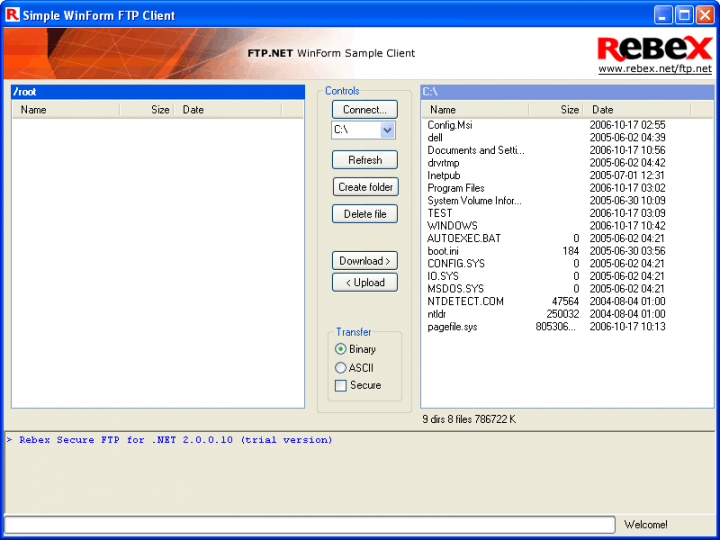 About Rebex FTP/SSL for .NET: Secure your FTP file transfers.
