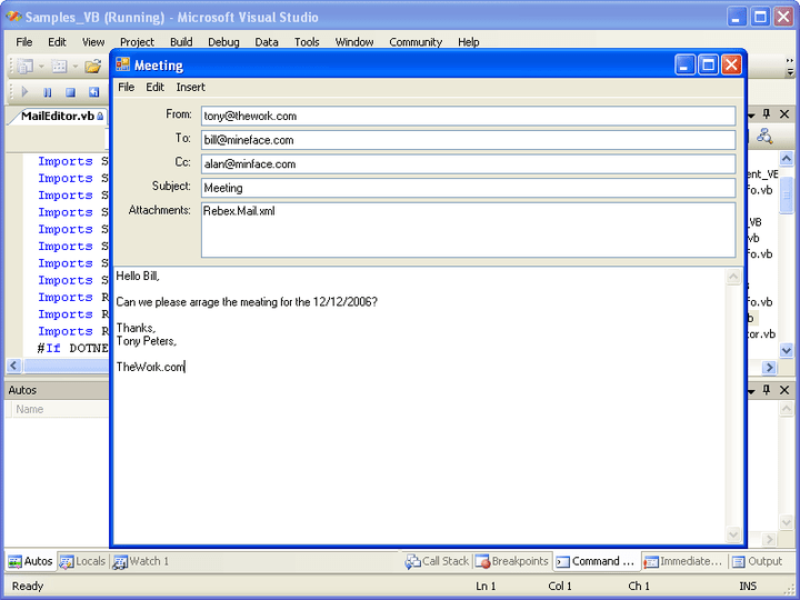 About Rebex Mail for .NET: Add email functionality to your .NET applications.